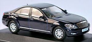 Mercedes Benz S 500 Limousine CLASSE S W221 2005-09 Bleu Foncé Night - 1:43