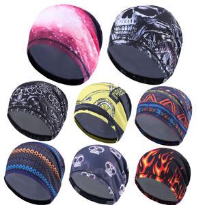 Sweat Wicking Helmet Liner Cooling Cap Running Hat Cycling Skull Cap Men Women