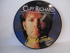 """Cliff Richard, Little Town, 7"""" Picture Disc, 1982, EMI Records, EMIP 5348"""