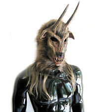 Horned Got Your Goat Devil Adult Halloween Costume Mask Gloves Legs Hooves Feet
