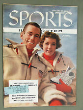 SPORTS ILLUSTRATED 1956 JANUARY 30 ICE SKATING WINTER OLYMPICS JENKINS ALBRIGHT