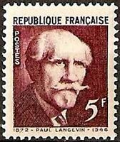 "FRANCE TIMBRE STAMP N°820 ""PAUL LANGEVIN"" NEUF XX TTB"