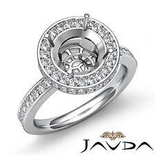 Diamond Engagement Semi Mount Ring Round Shape Setting 18k White Gold 0.8 Carat