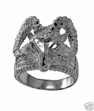 Big Astrology aries horoscope Ram Zodiac Sign Ring Real Sterling Silver Jewelry
