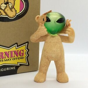 💚 'BAD TASTE BEARS' COLLECTABLE FIGURINE 'ROSWELL' SUPERB CONDITION! BOXED!