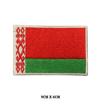 BELARUS National Flag Embroidered Patch Iron on Sew On Badge For Clothes etc
