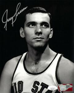 Jerry Lucas signed Ohio State Buckeyes NCAA Vintage Sepia 8x10 Photo- JSA