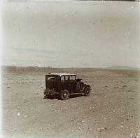 Automobile Antica Nel Deserto Tunisia Foto PL53L5n6 Stereo Placca Da Lente
