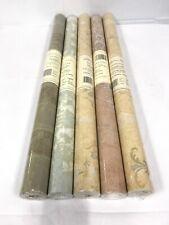 Vtg. Double Roll-Wallpaper Antonina Vella-Lot Of 5 Fine Wallpaper Double Roll