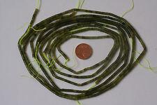 China-Jade(Serpentinart)-Strang(5 St. Zylinder 3x2,5 mm) K-0292/K
