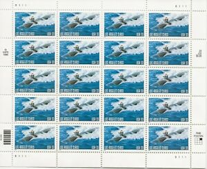 2000 33 cent Submarine full Sheet of 20, Scott #3372, Mint NH