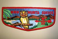 OA WUNITA GOKHOS LODGE 39 PENNSYLVANIA DUTCH COUNCIL PATCH OWL RED SERVICE FLAP