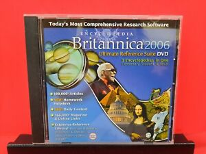 Encyclopedia Britannica 2006 Ultimate Reference Suite DVD-ROM - A569