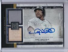2020 GARY SHEFFIELD TOPPS MUSEUM COLLECTION DUAL RELIC AUTO 134/299