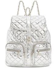 Steve Madden Hollie Quilted Metallic Silver Large Backpack Handbag
