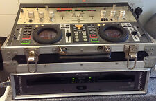 V Good Condition PIONEER CMX 3000 PRO CD PLAYER.FLIGHT CASES+LEADS