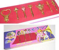 Sailor Moon Raro Caja Set 7 Colgantes Cetro Lunar Llave Tiempo Nuevo