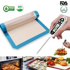 Digital Instant Read Meat Thermometer + Silicone Baking Mat Kitchen Cooking