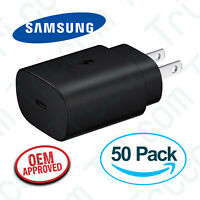 50x OEM Samsung EP-TA800 Galaxy S20 S20+ 25W Type C Super Fast Wall Charger