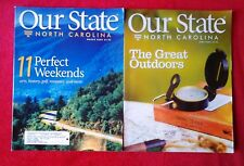 Lot of 2 Our State North Carolina Magazines March & June 2009  Get Away Outdoors