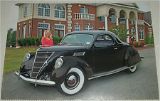 1937 Lincoln Zephyr Coupe car print (black)