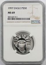 1997 Statue of Liberty Half-Ounce Platinum American Eagle $50 MS 69 NGC 1/2 oz
