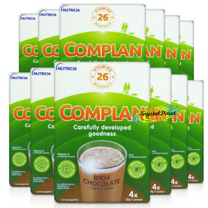 12x Complan Chocolate Nutrition Vitamin Protein Supplement Energy Drink 4x55g