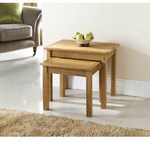 Solid Oak Nesting Table Wiltshire Solid wood furniture