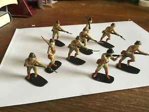 Lot of 9 painted plastic Japanese imperial soldiers WW2 war in the Pacific 1/35