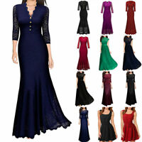 Lady Formal Wedding Bridesmaid Long Evening Party Ball Prom Gown Cocktail Dress