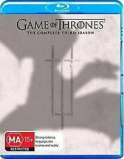 Game of Thrones Season 3 Blu Ray 6 disc set with never seen special features