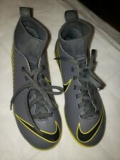 Nike Kids Jr Superfly 6 Club Cleats Size 2y Grey Yellow Black
