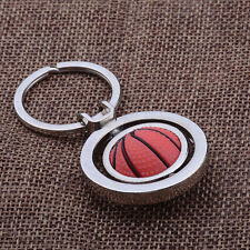 Keyring Keychain Rotating Basketball Key Chain Ring Key Fob Ball