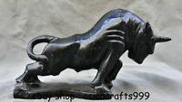 """12 """"Chinesische Dushan Jade Tier glückliche Tierkreis-Jahr-Stier-Ochsen-Skulptur"""