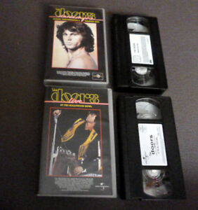 2xVHS The Doors Best Of Greatest Hits DANCE ON FIRE & LIVE At Hollywood Bowl