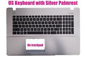 US Silver Palmrest keyboard for Asus X750V/X750VB/X750VA 90NB01K2-R31US0
