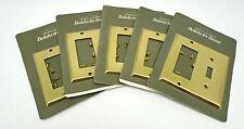 5 Baldwin 4743.060 Satin Brass & Brown Beveled Edge GFCI/Single Toggle Comb 696D