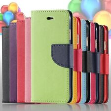 Leather book wallet style stand card slot holder case for Samsung Galaxy S5