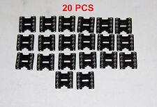 20 PCS 8 Pin DIP IC Socket Low Profile Open Body ICO-308-LTT