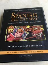Living Language, Spanish All The Way, With Eight 60 Minute Cassettes