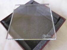 "Oleg Cassini SET of 4 SQUARE COASTERS, 3.75"", Crystal; Buy 2 sets, get 3rd FREE"