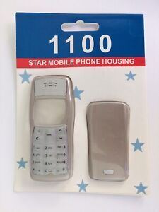 BRAND NEW SEALED SILVER NOKIA 1100 STAR MOBILE PHONE HOUSING CASE COVER