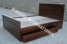 Wooden King Size Storage Double Bed with 2 storage drawers !!