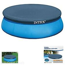 10 Ft Round Inflatable Pool Cover With Drain Holes To Prevent Water Accumulation