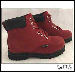 WOMENS STEEL CAP SAFETY WORK BOOTS - LACE UP