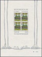 Afrika Kap Verde 1985 Hundertwasser Block 7 - 9 postfrisch