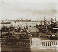 Algeri Port Algeria Nave da Guerra Treno Francia Placca Stereo Positive