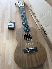 RRP £79 Concert Acoustic Ukulele in Black Walnut w/ Arched Back & digital tuner