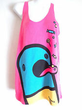 new breed Girl chill pill pink tank top vest size large
