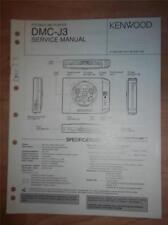 Kenwood Service Manual~DMC-J3 MD Minidisc Recorder/Player~Original